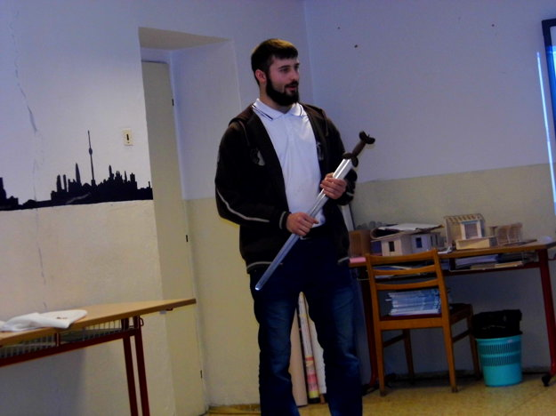 Daniel Klucha a vikingský meč.