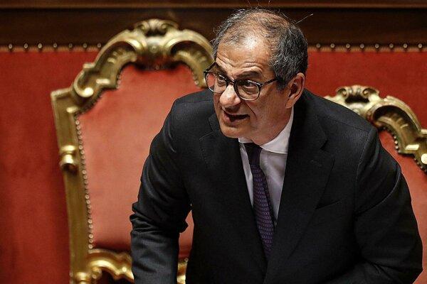 Taliansky minister hospodárstva Giovanni Tria.