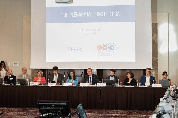 Zasadanie združenia európskych regulátorov ERGA v Bratislave, jún 2019.