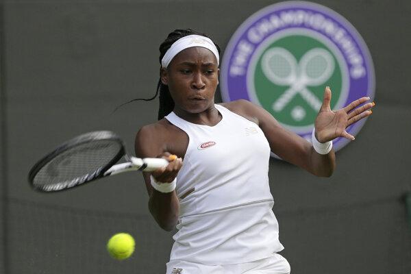 Cori Gauffová počas zápasu proti Venus Williamsovej.