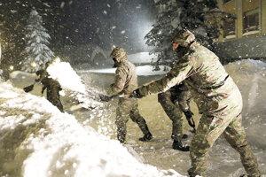 Na Orave v januári pomáhala aj armáda.