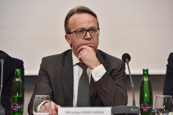 Prezident Republikovej únie zamestnávateľov Miroslav Kiraľvarga.