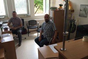 M. Jurica a M. Bartko v kancelárii pre obete.