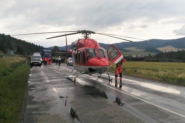 Nehoda medzi Lokcou a Brezou.