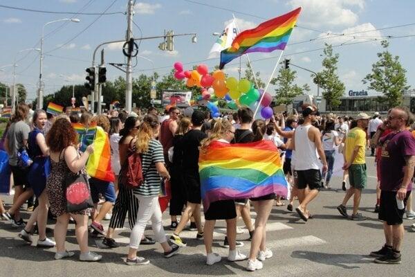Dúhový Pride v Bratislave v roku 2018.