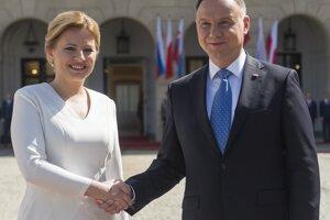 Prezidentka Slovenska Zuzana Čaputová a poľský prezident Andrzej Duda.