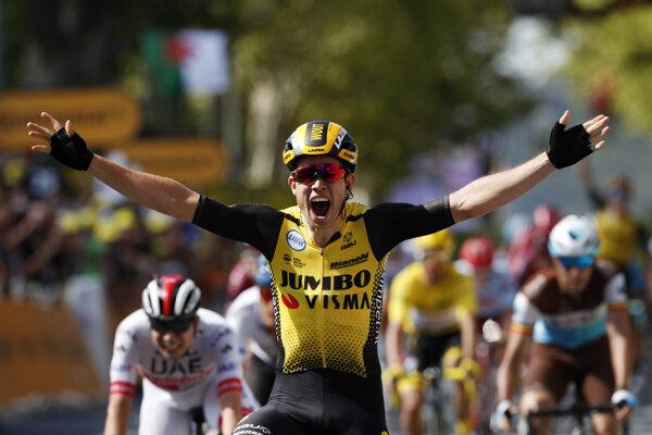 Wout Van Aert víťazí v 10. etape na Tour de France 2019.