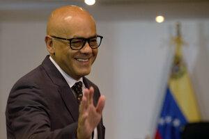 Venezuelský minister informácií Jorge Rodríguez.