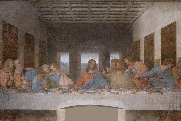 Posledná večera Leonarda da Vinci.