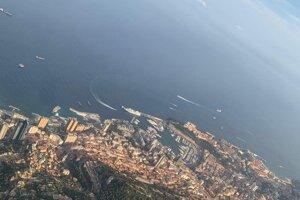 Spomienka na let nad Monte Carlom.