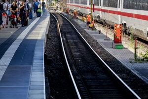 Frankfurtská železničná stanica.