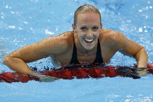 Americká plavkyňa Dana Vollmerová získala na OH 2012 v Londýne zlatú medailu na 100 m motýlik, keď vo finále dohmatla v novom svetovom rekorde 55,98 s.