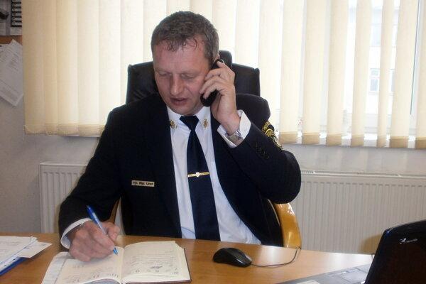 František Linet, náčelník Mestskej polície v Čadci.