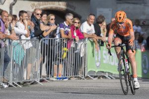 Cyklistka a majsterka sveta Anna Van Der Breggenová počas pretekov v ženskej kategórii Elite na majstrovstvách sveta v Innsbrucku 2018.
