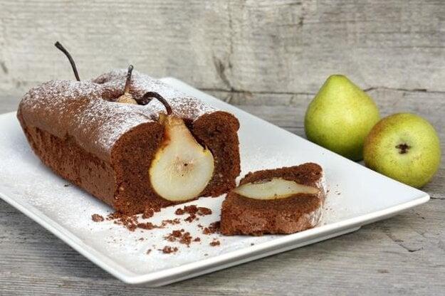 Čokoládovo-hruškový koláč