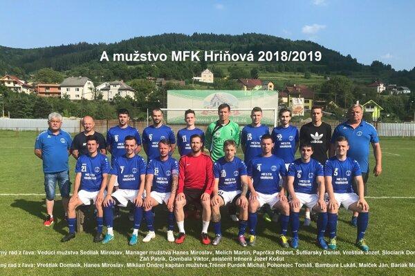 MFK Spartka Hriňová v uplynulej sezóne