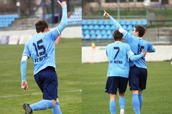 Andrej Ivančík poslal dva gólové pozdravy priateľke Evičke na tribúnu.