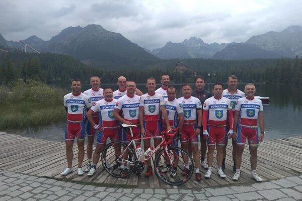 Cyklisti z Topoľčian.