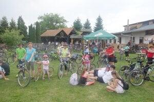 Cieľ cyklotúry v Starom Tekove.