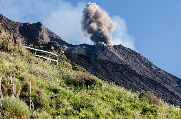 Erupcia sopky Stromboli