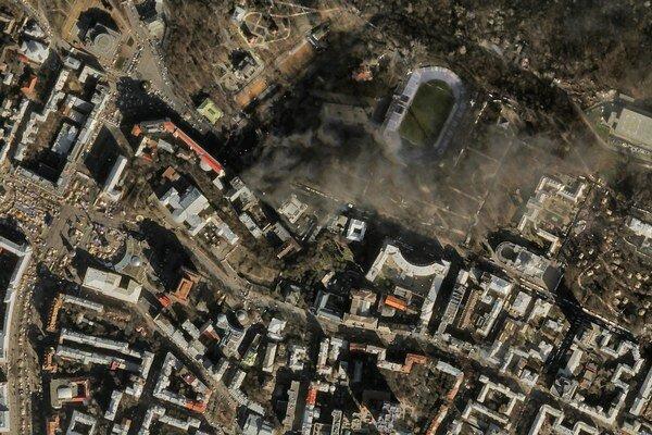 Satelity firmy Skybox zaznamenali aj nepokoje v Kyjeve.