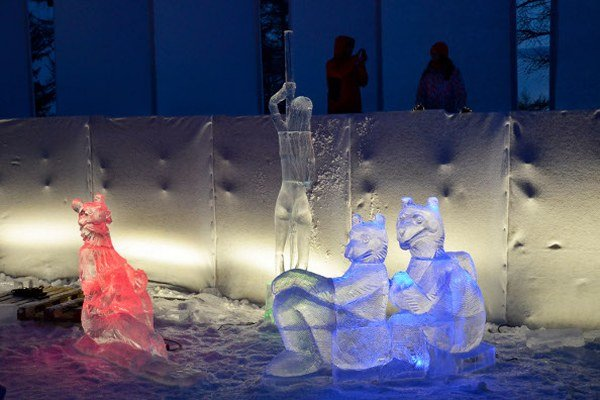 Ľadové sochy z majstrovstiev Tatry Ice Master