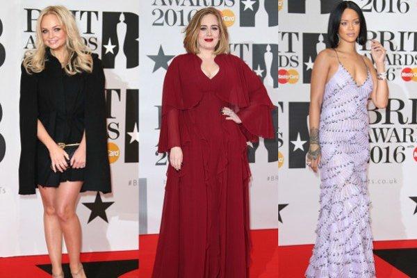 Zľava: Emma Buntonová, Adele, Rihanna