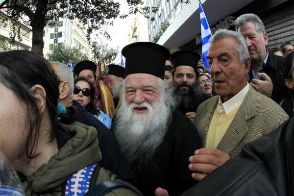 Grécky biskup Amvrosios.