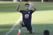 Philippe Coutinho počas tréningu brazílskej reprezentácie.