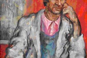 Portrét Ing. arch. Jána Gabrínyho od jeho učiteľa a priateľa Júliusa Jakobyho.