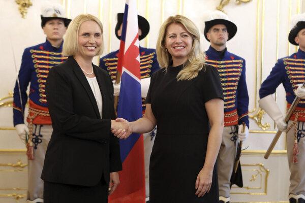 Prezidentka Zuzana Čaputová prijala na nástupnej audiencii novú veľvyslankyňu USA Bridget A. Brinkovú.