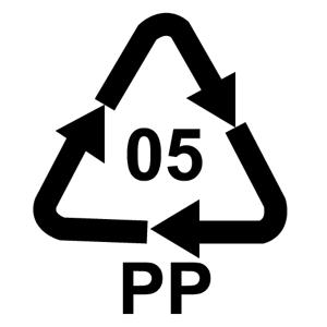Recyklačná značka pre polypropylén