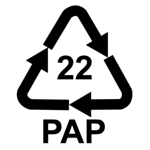 Číslo v recyklačnej značke pre papier môže byť v rozmedzí 20-39