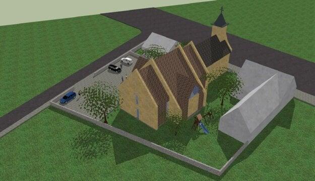 Budúci vzhľad rekonštruovaného kostola v Rovinke.