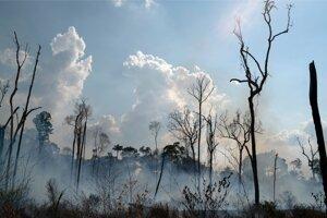 Požiar v amazonskej oblasti Alvorada.