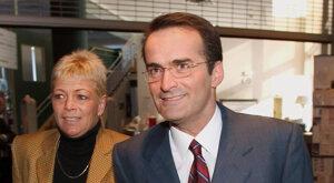 Jean Lapierre s manželkou Nicole Beaulieu.