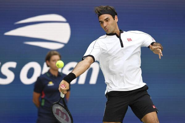 Roger Federer na US Open 2019.
