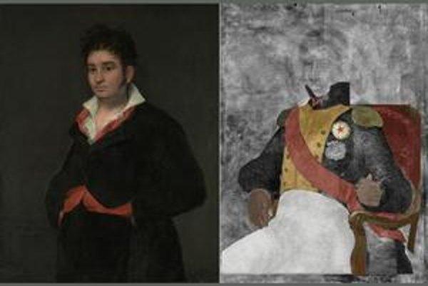 Podľa expertov zrejme francúzskeho generála (vpravo) premaľoval Goya politicky neškodným španielskym sudcom najvyššieho súdu.