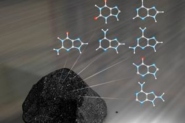 "Meteorit, v ktorom našli ""súčiastky"" DNA."