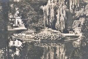Dobový záber parku.