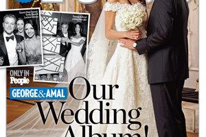 Právnička Amal Alamuddin venujúca sa ľudským právam sa v roku 2015 vydala za herca Georgea Clooneyho. Na sebe mala klasické dlhé šaty od Oscara de la Renta.