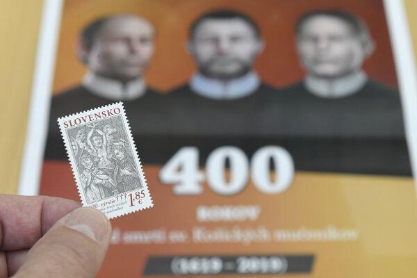 Slávnostná inaugurácia poštovej známky.