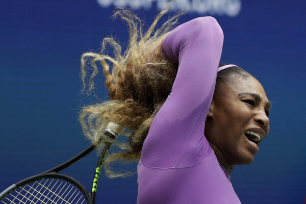 Serena Williamsová počas finále US Open 2019.