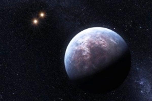 Planéta hviezdy Gliese 667 C, patriaca do kategórie superzemí (6 hmotností Zeme), je jednou z 32 nových exoplanét objavených pomocou HARPS. Na tejto umeleckej vízii obieha svoju hviezdu, ktorú na obrázku nevidno, vo vzdialenosti asi dvadsatiny vzdialenost