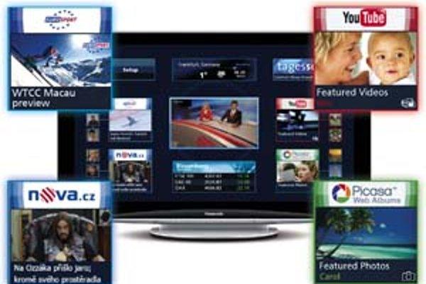 Televízne vysielanie je niekedy nudné. Televízor s internetom preto dáva možnosť robiť dve veci naraz.