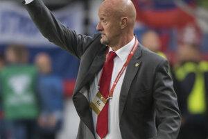 Tréner Maďarska Marco Rosi počas zápasu kvalifikácie na EURO 2020 Maďarsko – Slovensko.
