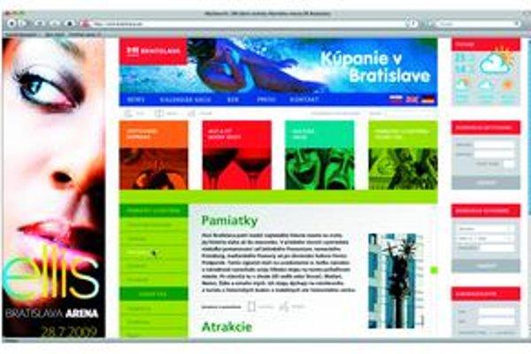 Víťazný grafický návrh na redizajn web stránky cestovného ruchu.