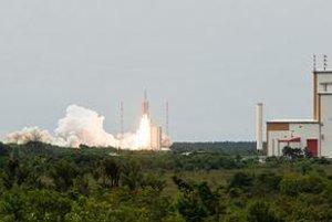 Štart rakety Ariane 5.