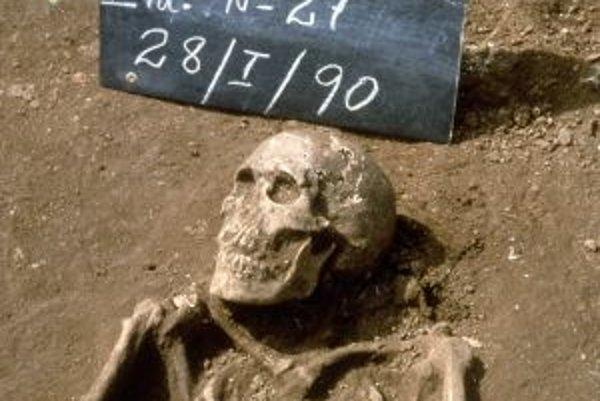Kostra pravdepodobného účastníka druhej Kolumbovej plavby z rokov 1493-1494, nájdená počas vykopávok na kostolnom cintoríne v La Isabela na ostrove Hispaniola (Dominikánska republika) v roku 1990. La Isabela bolo prvé sídlo Európanov v Novom svete.