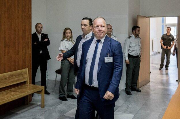 Riaditeľ TV Markíza Matthias Settele na súde.